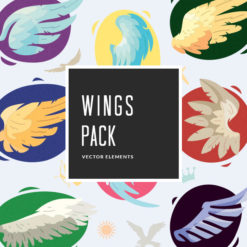 Wings Vector Pack Vector packs Wings,vector,clipart,element,illustration