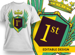 1st T-shirt designs and templates heraldry