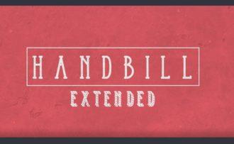 Handbill Extended Font Fonts Font, Otf, ttf