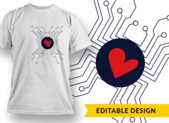 3D-Printed Heart Transplant Survivor T-shirt Designs and Templates heart