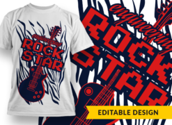 Job placeholder Rock Star T-shirt designs and templates music