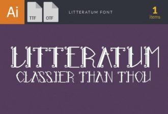 Litteratum Font Fonts Font, Otf, ttf