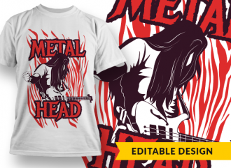 Metalhead T-shirt Designs and Templates metal