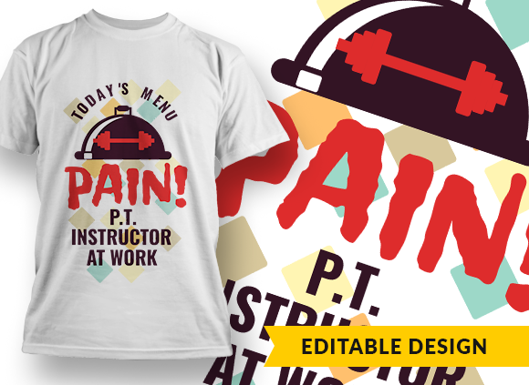 Today's menu: PAIN! Physical Training Instructor at Work todays menu pain preview