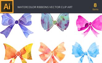 Watercolor Ribbons Vector Set Vector packs [tag]