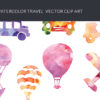 Free New Year Vector Invitation Template watercolor silhouette travel small