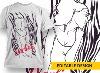 Darling T-shirt Designs and Templates fashion