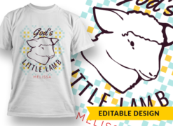 God's little lamb – Melissa (placeholder) T-shirt designs and templates religious
