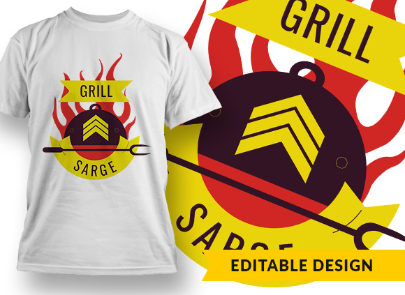 Grill Sarge T-shirt Designs and Templates bbq