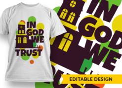 In God we trust T-shirt designs and templates religious