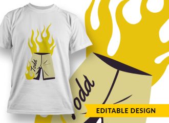 Liar liar, pants on fire (with name placeholder) T-shirt Designs and Templates funny