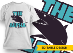 The Alpha T-shirt designs and templates alpha