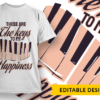 """Free """"Stop staring at my maracas"""" t-shirt design these are the keys to my happiness preview"""