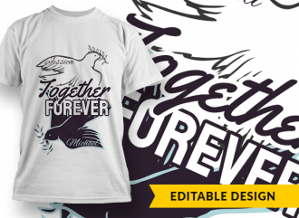 Together forever (with name placeholders) T-shirt Designs and Templates yang