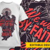 We Walk By Faith Not By Sight tshirt design template
