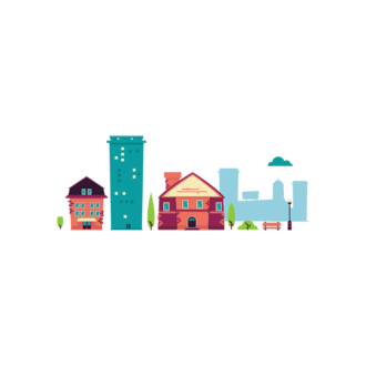 Buidings City Illustration Clip Art - SVG & PNG city