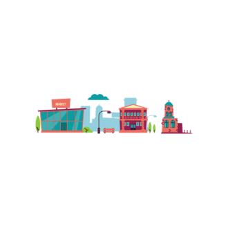 Buidings City Silhouette Clip Art - SVG & PNG city