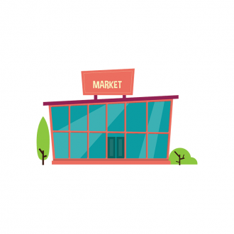 Buidings Market Clip Art - SVG & PNG vector