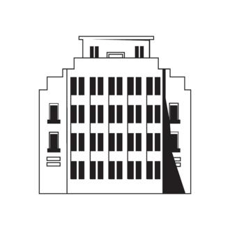 Buildings Vector 1 15 Clip Art - SVG & PNG vector