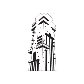 Buildings Vector 1 16 Clip Art - SVG & PNG vector