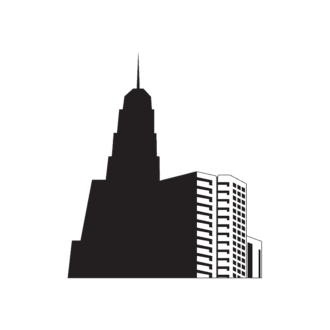 Buildings Vector 1 3 Clip Art - SVG & PNG vector