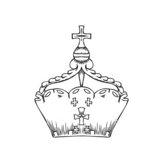 Crowns Vector 1 1 Clip Art - SVG & PNG vector