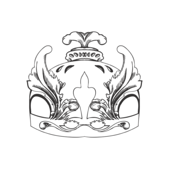 Crowns Vector 1 12 Clip Art - SVG & PNG vector