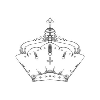 Crowns Vector 1 2 Clip Art - SVG & PNG vector