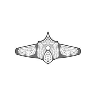 Crowns Vector 3 7 Clip Art - SVG & PNG vector