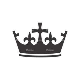 Crowns Vector 5 11 Clip Art - SVG & PNG vector