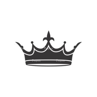 Crowns Vector 5 12 Clip Art - SVG & PNG vector