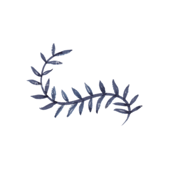 Curved Foliage 01 Clip Art - SVG & PNG vector