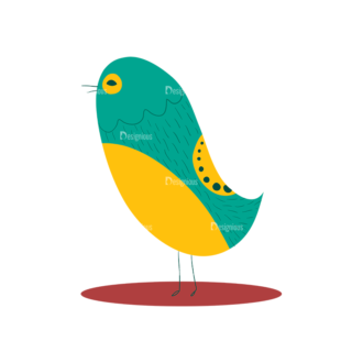 Decorative Birds Bird 02 Clip Art - SVG & PNG vector