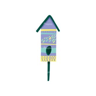 Decorative Birds Bird Cage 16 Clip Art - SVG & PNG vector