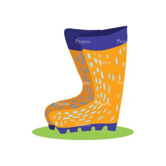 Decorative Birds Boots Clip Art - SVG & PNG vector