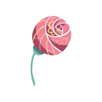 Decorative Birds Flower 04 Clip Art - SVG & PNG vector