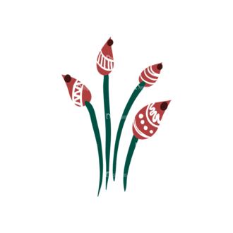 Decorative Birds Flower 09 Clip Art - SVG & PNG vector