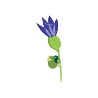 Decorative Birds Flower 18 Clip Art - SVG & PNG vector