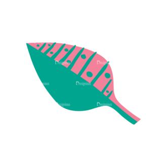 Decorative Birds Leaf 12 Clip Art - SVG & PNG leaf
