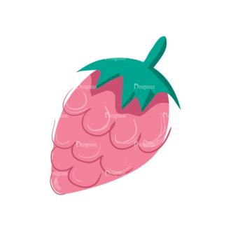 Decorative Birds Raspberry 07 Clip Art - SVG & PNG vector