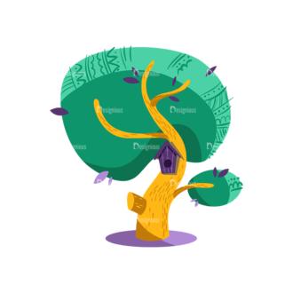 Decorative Trees 02 Clip Art - SVG & PNG vector