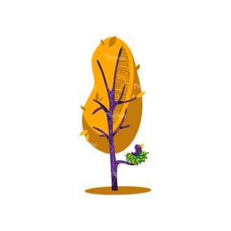 Decorative Trees 03 Clip Art - SVG & PNG vector