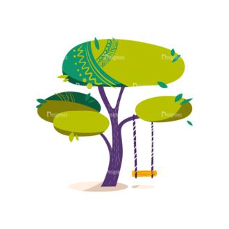 Decorative Trees 04 Clip Art - SVG & PNG vector