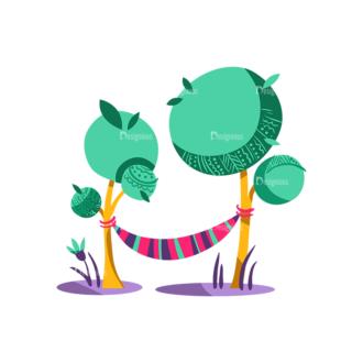 Decorative Trees 06 Clip Art - SVG & PNG vector