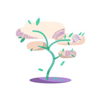 Decorative Trees 07 Clip Art - SVG & PNG vector