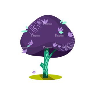Decorative Trees 08 Clip Art - SVG & PNG vector