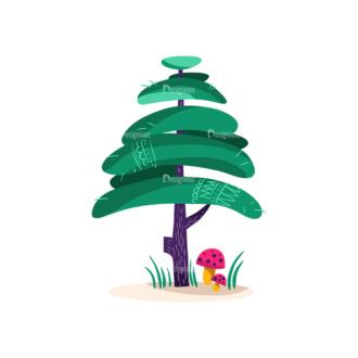 Decorative Trees 09 Clip Art - SVG & PNG vector