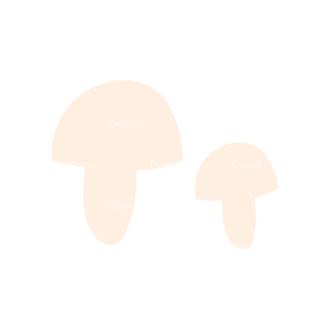 Decorative Trees Mushroom Clip Art - SVG & PNG vector
