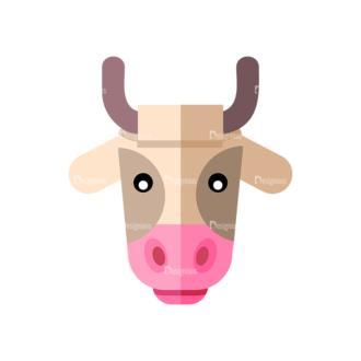 Farming Cow Clip Art - SVG & PNG vector