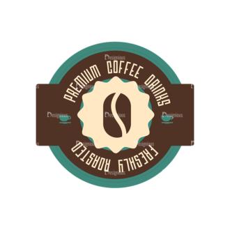 Coffee Badges 07 Clip Art - SVG & PNG vector